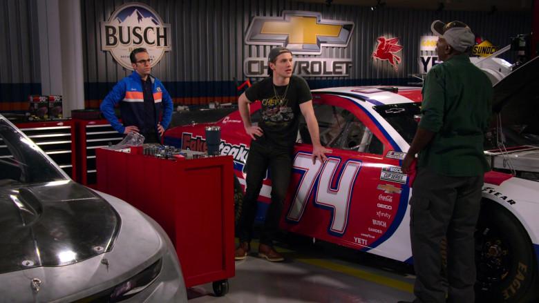 Busch, Chevrolet, Mobil 1, Sunoco and Car Stickers – Coca-Cola, Geico, Xfinity, Gander, Goodyear, Yeti in The Crew S01E07