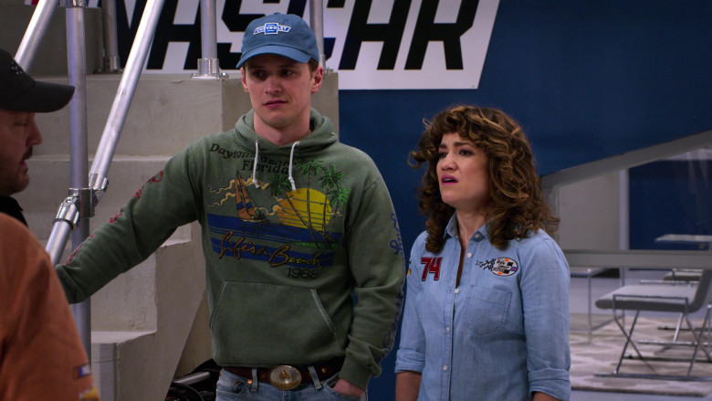 Chevrolet Blue Cap Worn by Freddie Stroma as Jake in The Crew S01E03