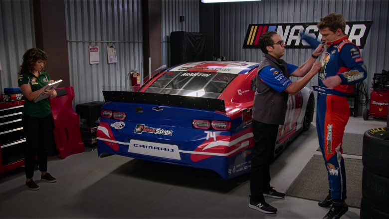 Chevrolet Camaro Sports Car and New Balance Sneakers of Dan Ahdoot as Amir in The Crew S01E06 We're Gonna Be Okay. We're Gonna Be Okay