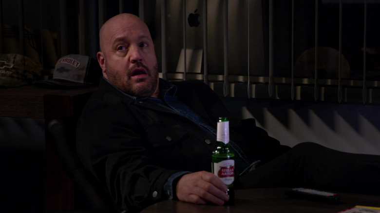 Chevrolet Caps and Stella Artois Beer Bottle in The Crew S01E01