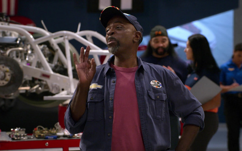 Chevy Patch on the Shirt Worn by Gary Anthony Williams as Chuck in The Crew S01E08