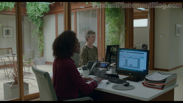 Cisco Phone and Dell Monitor Used by Simona Brown as Louise in Behind Her Eyes S01E02 (3)