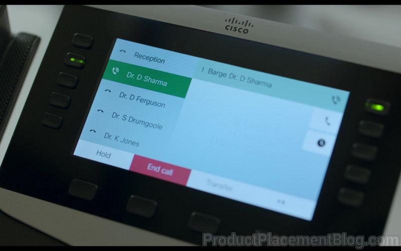 Cisco Phone of Tom Bateman as David in Behind Her Eyes S01E04