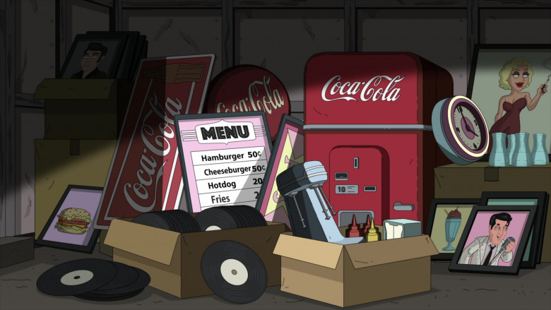Coca-Cola Signs and Vending Machine in Family Guy S19E11 (1)
