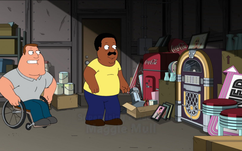 Coca-Cola Signs and Vending Machine in Family Guy S19E11 (2)