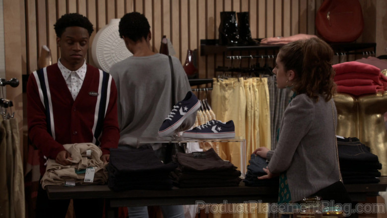 Converse Star Replay Low Navy Sneakers in Call Your Mother S01E05 Dating Jean (2021)