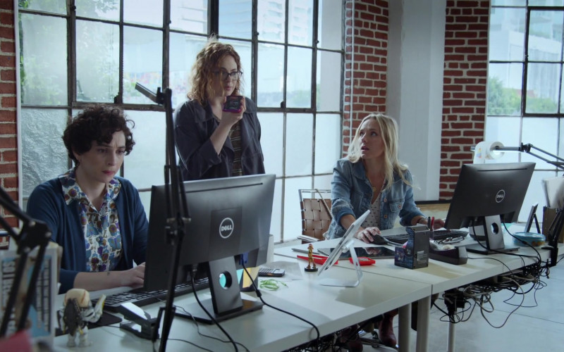 Dell Computer Monitors in Good Trouble S03E02 TV Show (6)