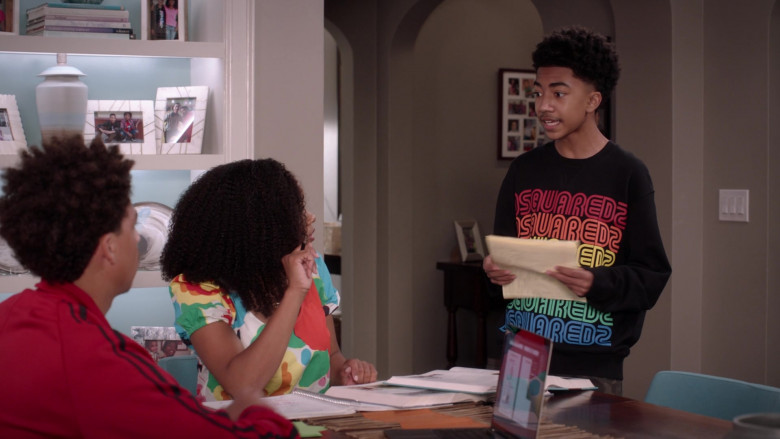 Dsquared2 Sweatshirt of Miles Brown as Jack in Black-ish S07E10 What About Gary (2021)