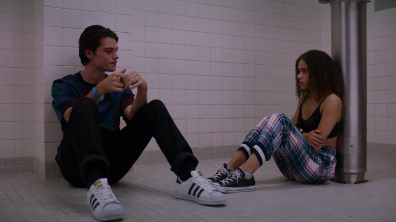 Felix Mallard as Marcus Wears Adidas Superstar Sneakers in Ginny & Georgia S01E03 TV Show by Netflix (2)