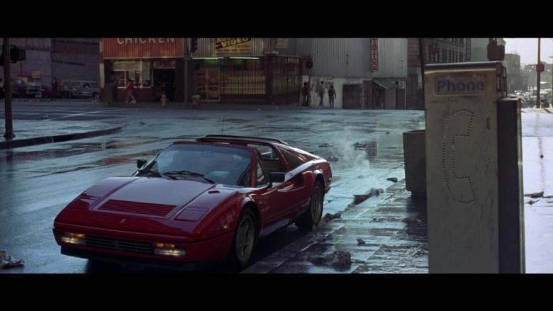 Ferrari 328 GTS Red Convertible Sports Car in Beverly Hills Cop 2 (1987)