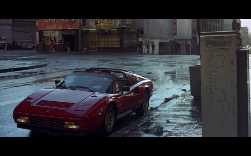 Ferrari 328 GTS Red Convertible Sports Car in Beverly Hills Cop 2 (1987)