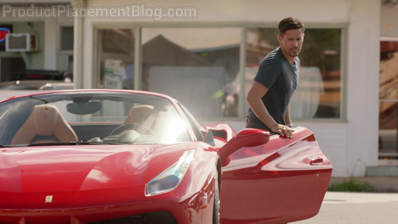 Ferrari 488 Spider Car of Javier Manuel Hernandez Jr. as Thomas in Magnum P.I. S03E08 (3)