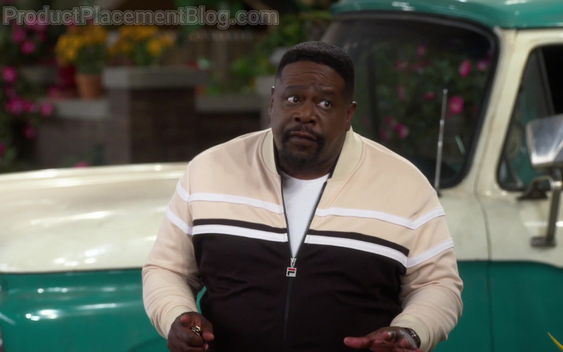 Fila Men's Jacket of Cedric the Entertainer as Calvin Butler in The Neighborhood S03E09 Welcome to the Shakedown (2021)