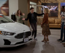Ford Fusion White Car in Call Your Mother S01E04 New Car, N...