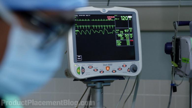GE DASH 5000 Patient Monitor in Magnum P.I. S03E08