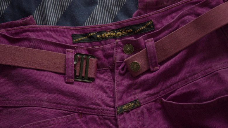 Girbaud Men's Purple Jeans in Young Rock S01E02 TV Show (1)