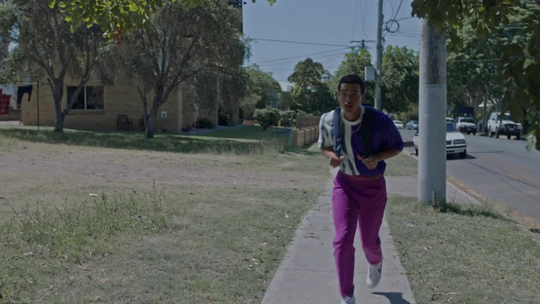 Girbaud Men's Purple Jeans in Young Rock S01E02 TV Show (4)
