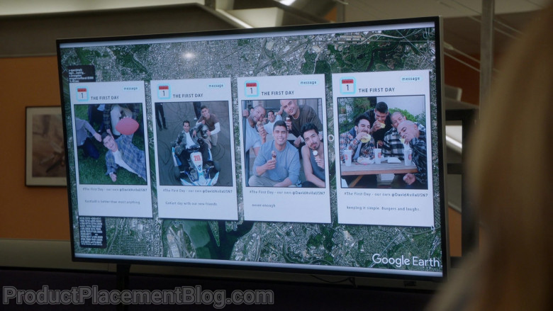 Google Earth Software in NCIS S18E07 The First Day (2021)