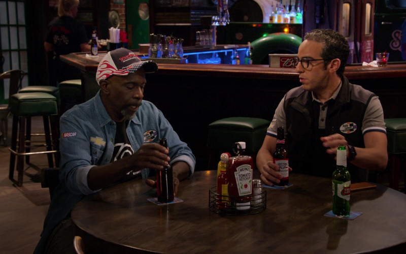 Heinz Tomato Ketchup, Budweiser and Stella Artois Beer in The Crew S01E09 Monkeys and Bears Riding Bicycles (2021)