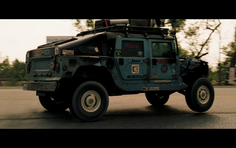 Hummer Car, Rockwell Collins, Cisco, Swann, Microtek in Deja Vu (2006)