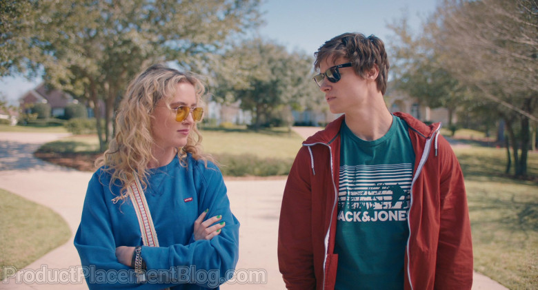 Jack & Jones T-Shirt Worn by Kyle Allen as Mark in The Map of Tiny Perfect Things (2)