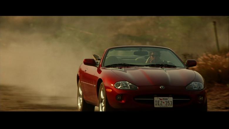 Jaguar XK8 Convertible Red Car of Halle Berry as Ginger Knowles in Swordfish (2001)