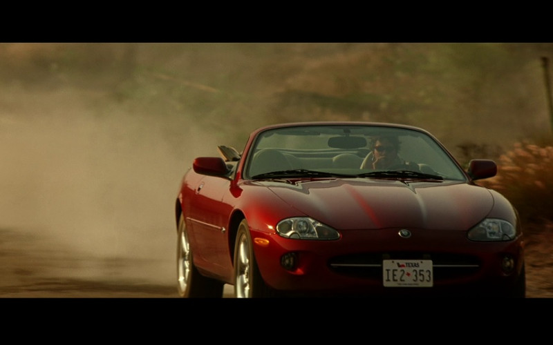 Jaguar XK8 Convertible Red Car of Halle Berry as Ginger Knowles in Swordfish (2001)