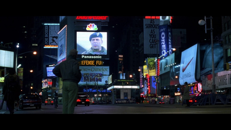 Joe Boxer, Budweiser, NBC, Panasonic, Skechers, Oreo, Disney & Nike in The Siege (1998)