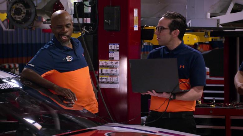 Lenovo Laptop of Dan Ahdoot as Amir in The Crew S01E04 (1)