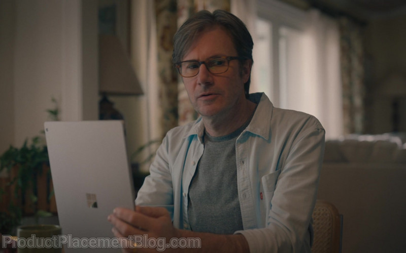 Levi's Men's Shirt and Microsoft Surface Tablet Used by Josh Hamilton as Daniel in The Map of Tiny Perfect T