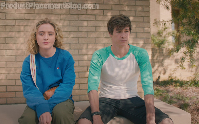 Levi's Sweatshirt Outfit Worn by Kathryn Newton as Margaret in The Map of Tiny Perfect Things (1)