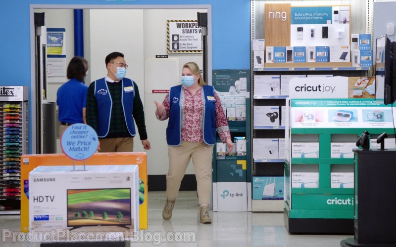 Liquitex, Samsung HD TV, TP-Link, Ring, Cricut Joy in Superstore S06E09 Conspiracy (2021)