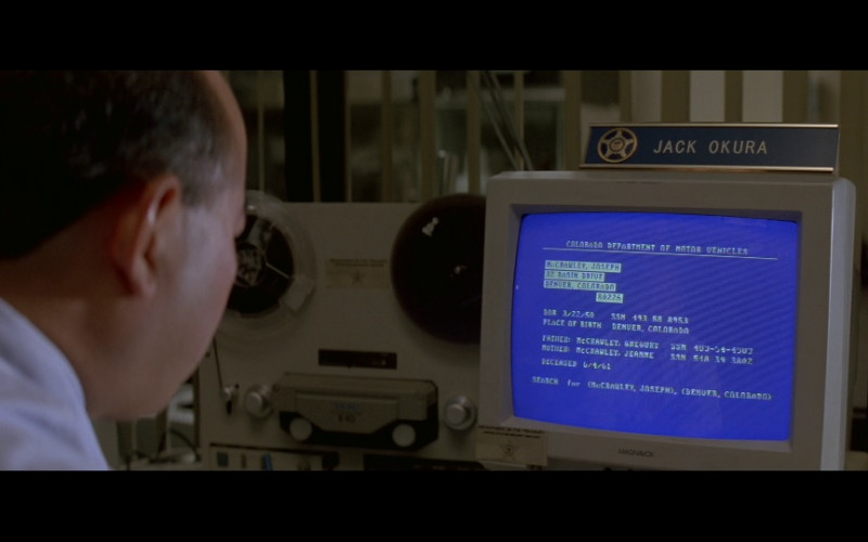 Magnavox Monitor in In the Line of Fire (1993)