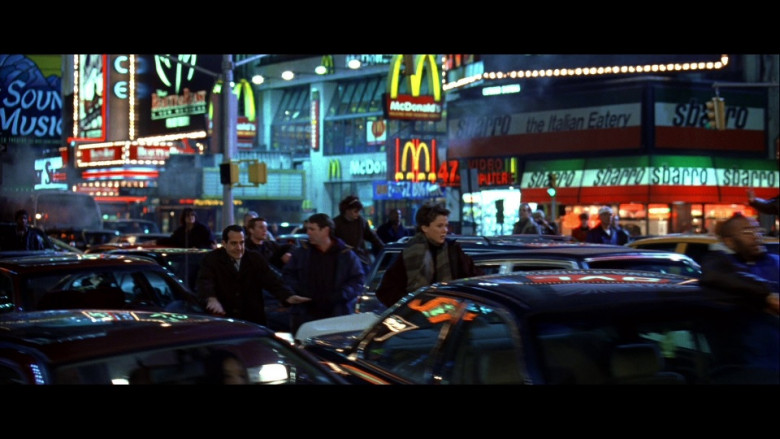 McDonald's and Sbarro in The Siege (1998)