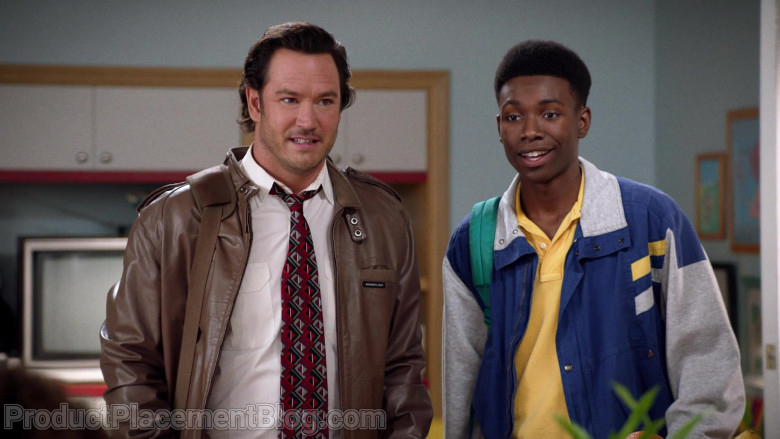 Members Only Men's Brown Leather Jacket of Mark-Paul Gosselaar as Paul Jackson in Mixed-ish S02E03 On My Own (2021)