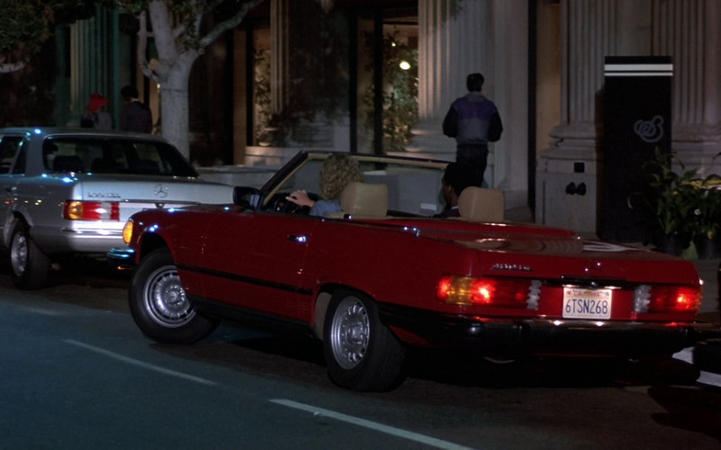 Mercedes-Benz 450 SL Red Convertible Car in Beverly Hills Cop 1984 (1)
