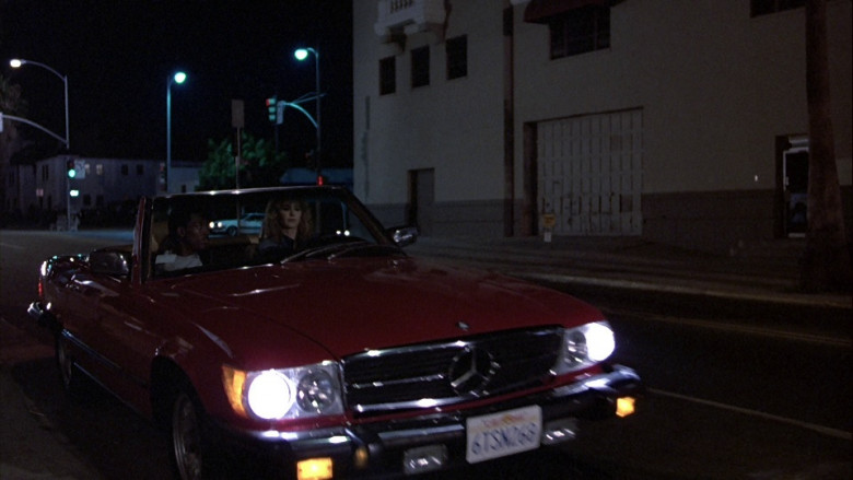 Mercedes-Benz 450 SL Red Convertible Car in Beverly Hills Cop 1984 (2)