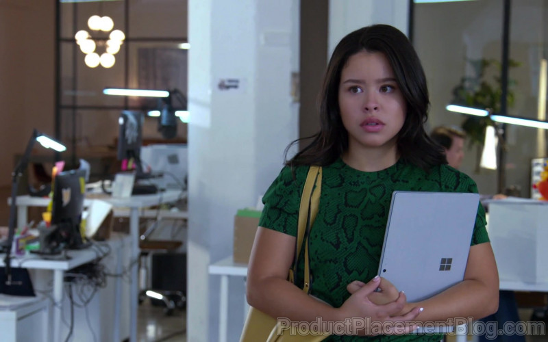 Microsoft Surface Tablet of Cierra Ramirez as Mariana Adams Foster in Good Trouble S03E01