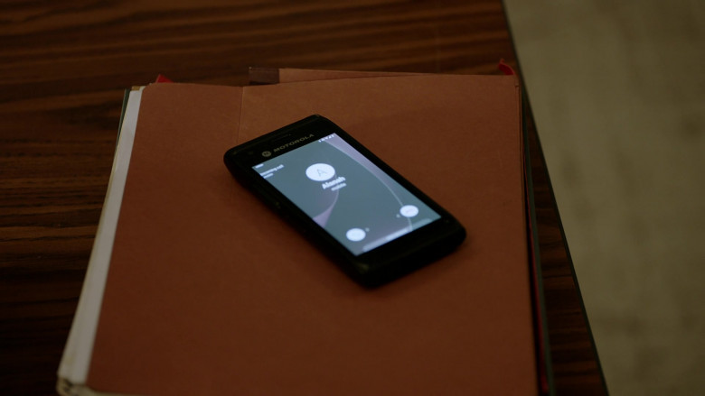 Motorola Mobile Phone Used by Marina Squerciati as Officer Kim Burgess in Chicago P.D. S08E05 (2)