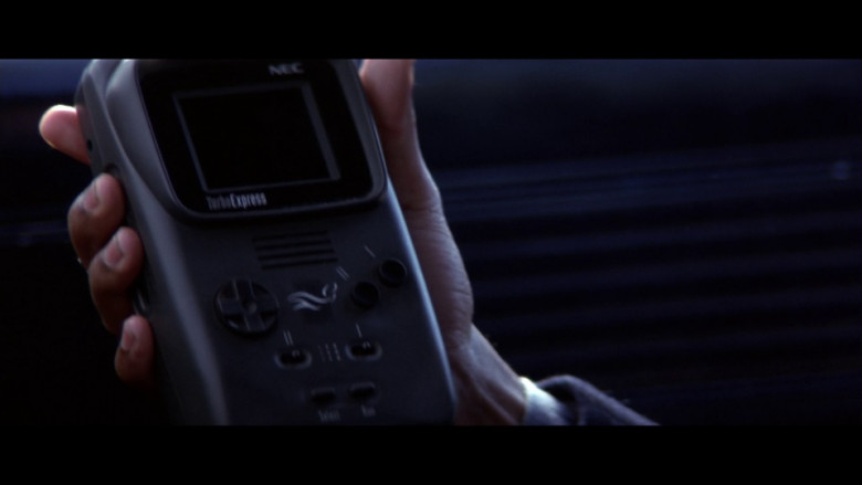 NEC TurboExpress handheld video game console in Enemy of the State (1998)
