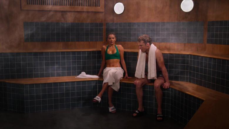 Nascar Slide Sandals of Freddie Stroma as Jake & Paris Berelc as Jessie De La Cruz in The Crew S01E05 (2)