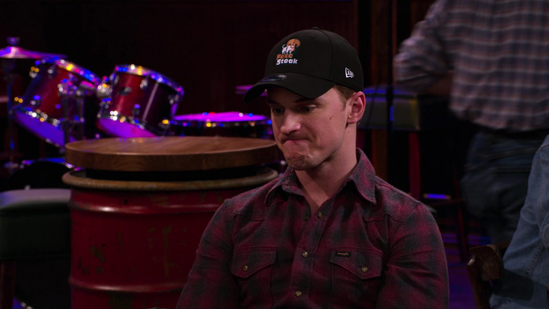 New Era Cap and Wrangler Plaid Shirt Worn by Freddie Stroma as Jake in The Crew S01E03