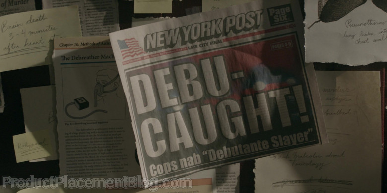 New York Post Newspaper in Prodigal Son S02E05 Bad Manners (2021)