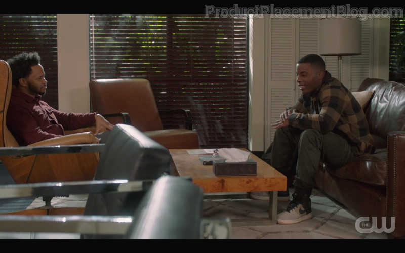 Nike Air Force 1 High '07 LV8 'Light Bone' Sneakers of Daniel Ezra as Spencer James in All American S03E04