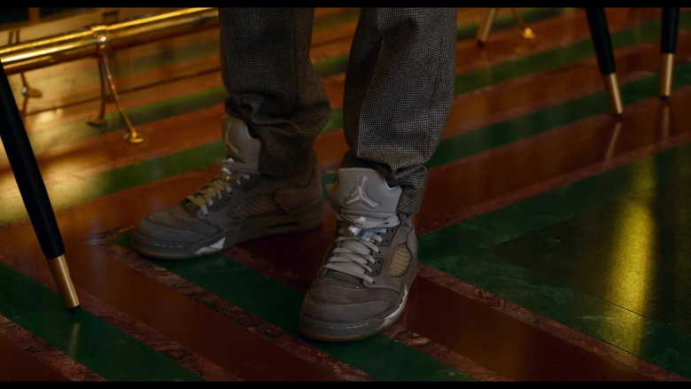 Nike Air Jordan 5 Wolf Grey Sneakers of Jordan Bolger as Cameron in Tom and Jerry (2021)