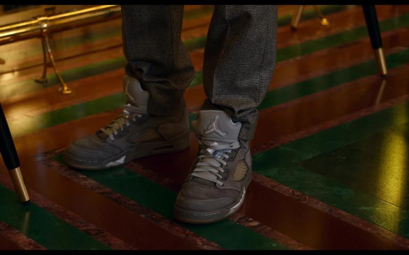 Nike Air Jordan 5 Wolf Grey Sneakers of Jordan Bolger as Cameron in Tom and Jerry (2021)