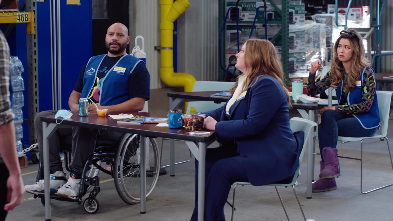 Nike Air Jordan Sneakers Worn by Colton Dunn as Garrett and LaCroix Sparkling Water Can in Superstore S06E10 Depositio