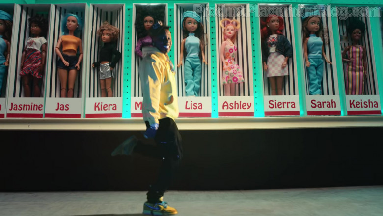 Nike Men's Yellow Sneakers of DaBaby in Cry Baby by Megan Thee Stallion (1)