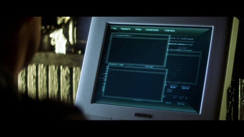 Nokia Computer Monitor in Gone in 60 Seconds (2000)