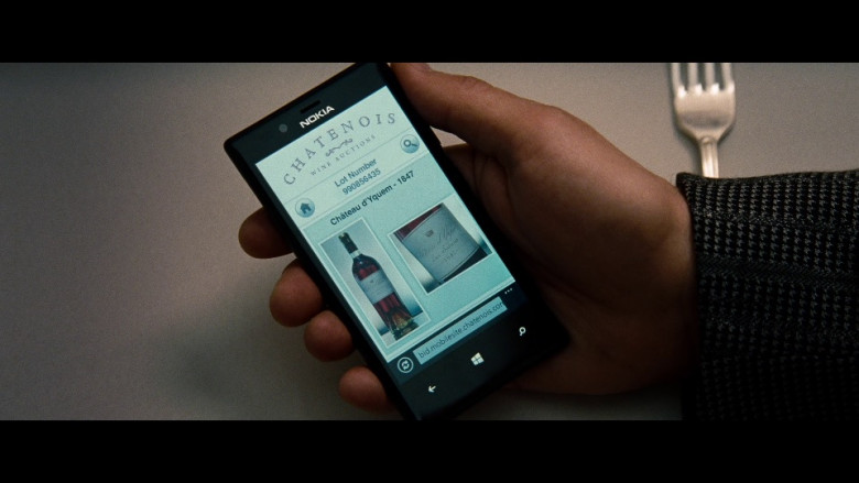 Nokia Lumia mobile phone & Chateau d'Yquem wine in Red 2 (2013)